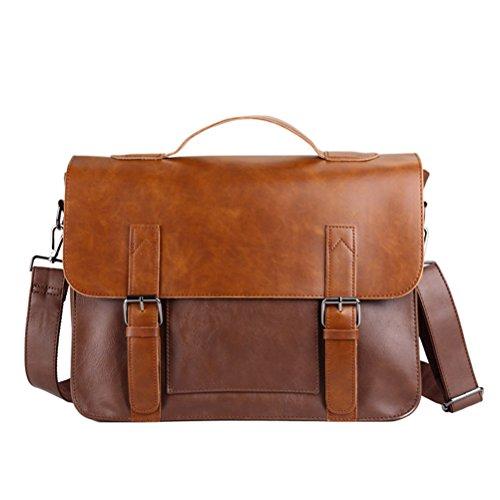 Männer Taschen wasserdicht Pferd Split Leder Messenger Bag Business Briefcase Crossbody Beutel männliche Schultertasche (Pferde Nylon Gurt)