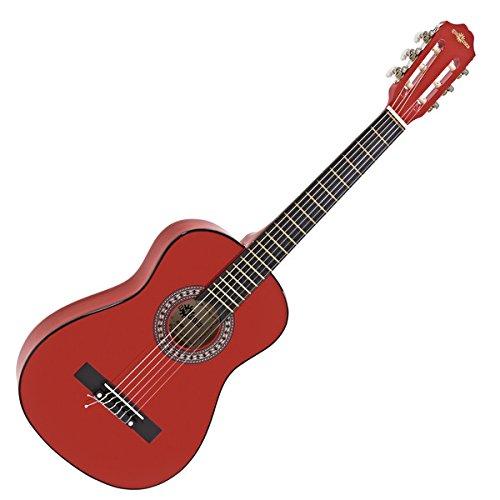 Junior-Konzertgitarre von Gear4music in 1/2-Größe Red