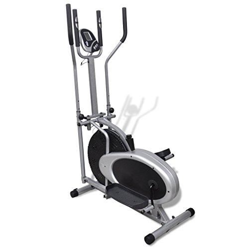 vidaXL Heimtrainer Ergometer Fitness Stepper Walking Ellipsentrainer