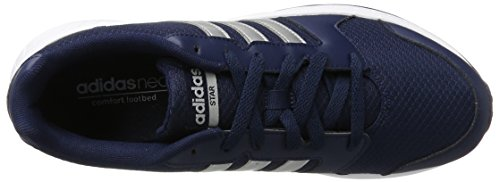 adidas Herren Vs Star Turnschuhe Blau (Collegiate Navy/Matte Silver/Ftwr White)