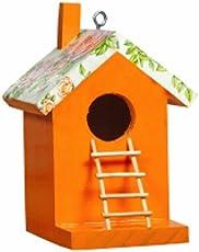 Wonderland Orange bird house with stairs & chain (lader)