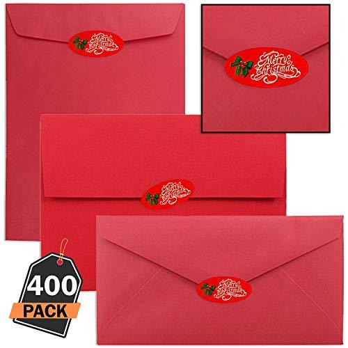 Kompanion set di 400 pezzi adesivi decalcomanie e decorazioni fatte a mano di natale per cartoline auguri e lettere