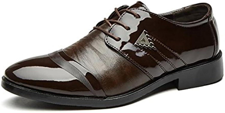 Zapatos De Cuero Moda Cuero Nuevo Zapatos Cómodos Antideslizante Zapatos Formales Transpirable,A,45