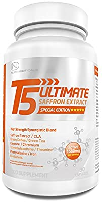T5 Ultimate®| 1750mg Active per Serving | Advanced Formula with Green Coffee, Green Tea, CLA, Cayenne, Theanine, Chromium, Iron and More by Nutribioticals Ltd