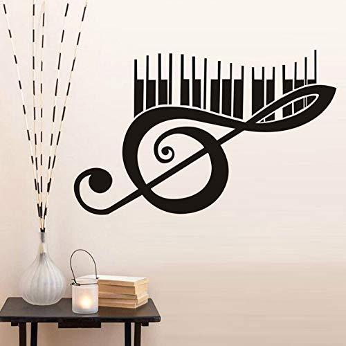 xlei WandaufkleberMurali Wandtattoo Dekoration Wohnzimmer Schlafzimmer Wandaufkleber Klavier Musik Hinweis Tapete Vinyl Kreative Kunst Wandgemälde Home Decor Removable78X43 cm (Klavier-musik-dekorationen)