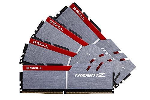 G. Skill F4–4000C18q-32gtz Trident Z Series 32GB (8GB X 4) DDR44000MHz PC4–32000CL18Dual Channel Arbeitsspeicher-Kit–Silber/Schwarz (Sleeks-unterstützung Körper)