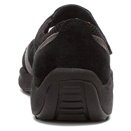 Propet Lydia Femmes Daim Baskets Black