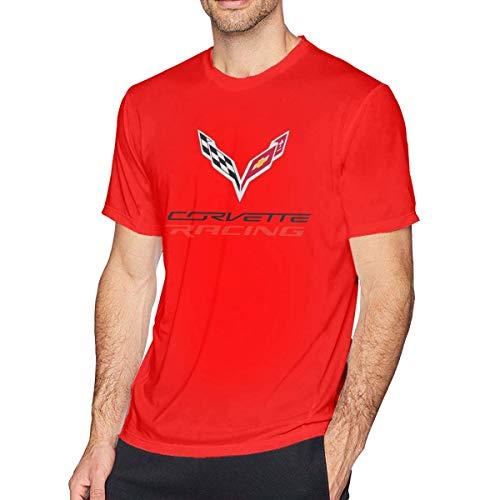 Free World Herren Corvette Logo Lässiges Kurzarm T-Shirt