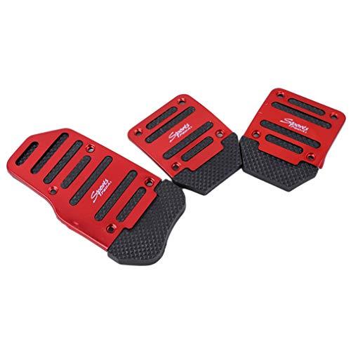 Eleusine rutschfeste manuelle Auto Auto Fußpedal Abdeckung Bremskupplung Gaspedal (Stil 2)