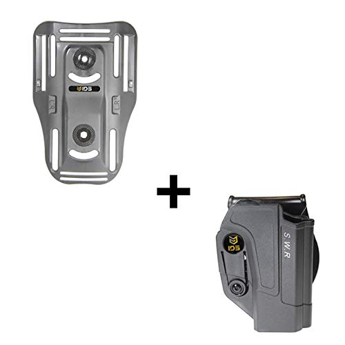 IDS S&W Lowride Belt Attachment, Tactical 360 roto Retention Adjustment Paddle fits Smith & Wesson M&P 9mm.40cal.22cal & .45cal, M&P M2.0 in 9mm.40cal & .45cal, SD9, SD40, SD9VE