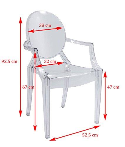 """Sedia di design, modello """"Ice"""", colore: bianco trasparente"""