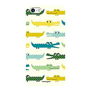 Homesogood Crocodile Cartoon Pattern Multicolor Case For iPhone 5 / 5S (Back Cover)