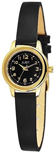 Just Watches Classic 48-S4063-GD-BK - Orologio da polso da donna, cinturino in pelle colore nero