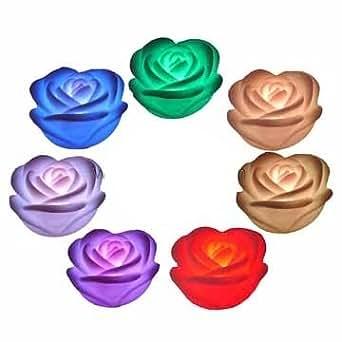 ROSES FLOTTANTES LED Roses Lumineuses Multicolore BOUGIES EN FORME DE ROSE