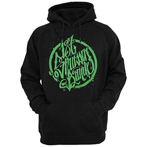187 Straßenbande - Logo Hoodie schwarz/grün (XXL)
