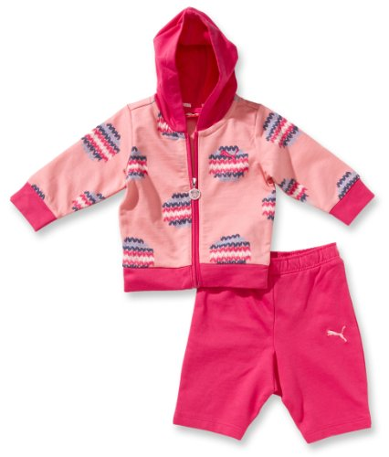Puma Baby Anzug Allover Hooded Jogger, Flamingo pink-Magenta, 74, 822011 01 (Trainingsanzug Puma Kleinkind)