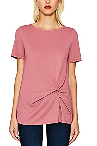 ESPRIT Collection Damen Bluse 077EO1F008, Rosa (Dark Old Pink 675), 44