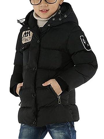 Garçon Manteau D'hiver Capuche Manches Longues Enfant Doudoune