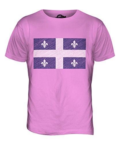 CandyMix Québec Kritzelte Flagge Herren T Shirt Rosa