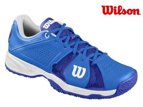 Wilson Rush Sport Omni Neptune, Baskets Basses Mixte Adulte bleu/blanc