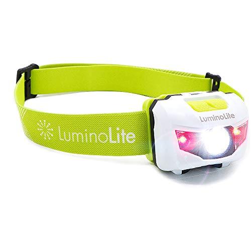 Vekkia Cree LED Stirnlampe 160 Lumen Headlamp,Kopflampe 5 Lichteinstellungsmöglichkeiten,Weiße und Rote LED,IPX6 Wasserresistent,Ideal geeignet zum Rennen,Zelten,und mehr.Batterien Inklusive.