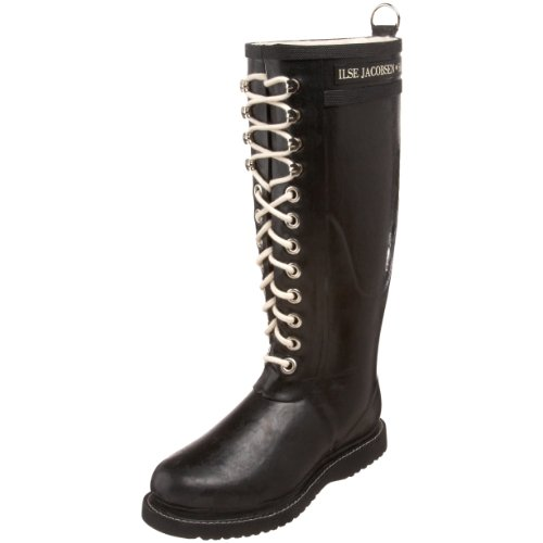 Ilse Jacobsen Long Rubberboot RUB1, Stivali donna, Nero (Schwarz (Black 01)), 39