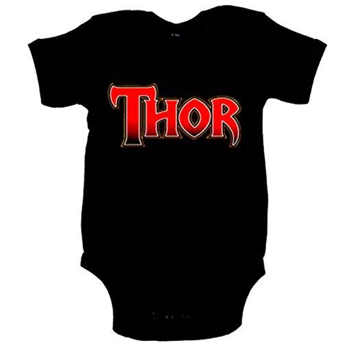 Body bebé Thor - Negro, 12-18 meses