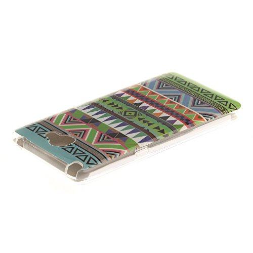 LG Bello II hülle MCHSHOP Ultra Slim Skin Gel TPU hülle weiche weiche Silicone Silikon Schutzhülle Case für LG Bello II - 1 Kostenlose Stylus (Vans von der wand (Vans off the wall)) Tribal Aztec (Tribal Aztec)
