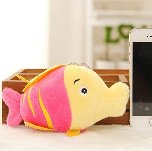 Verschiedene Arten Von Mini Süße Chinchillas Huhn Anhänger Weiche Cartoon Tier Fisch Und Oktopus Kaninchen Plüsch Spielzeug Schlüsselanhänger Spielzeug Rot Clownfisch -