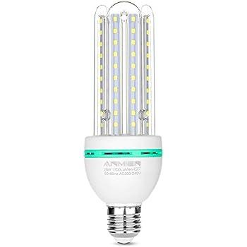 Bombilla LED E27 de 20 W (equivalente a 150 W de lámpara LED), luz blanca fría ...