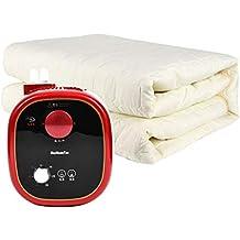 R&Y Manta eléctrica, Manta de Tiro calefaccionada de Doble Control, Lavable a máquina,