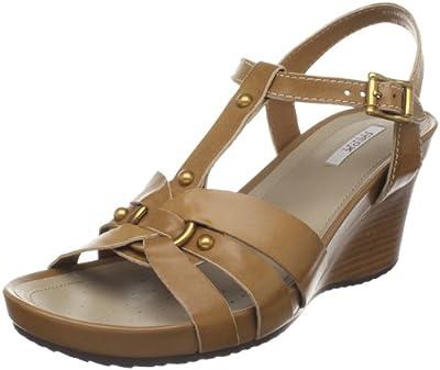 Geox Textil Donna Roxy D1196Z00043C1000 - Sandalias de vestir de cuero para mujer