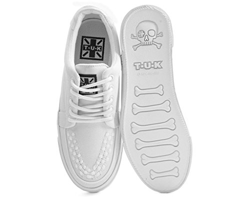T.U.K. Shoes Bianco Tela VLK Creeper Sneaker Bianco