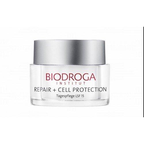 Biodroga - Repair + Cell Protection Tagespflege LSF 15 Repair-Booster mit UV-Schutz & Anti-Falteneffekt - 50 ml - Cell-booster