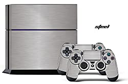 PS4 Console + Controller Skin - Steel