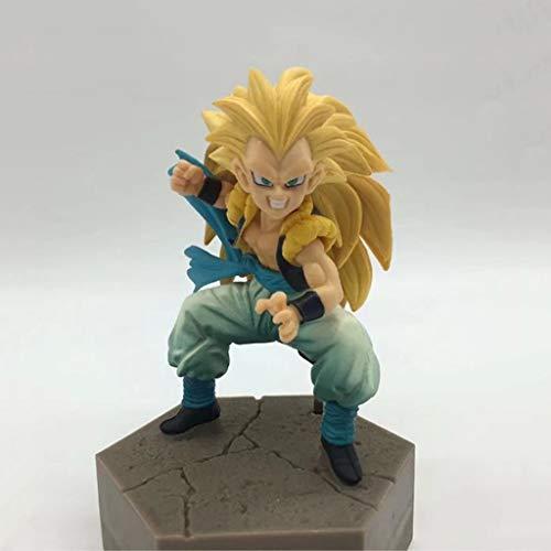 LLKOZZ Estatua de Anime de Dragon Ball La Segunda generación del Modelo de Juguete Super Saiyan Wu Tiansi de PVC Exquisita decoración de Anime Colecciones Artesanía -3.94in Juguete