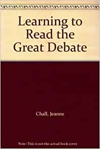 learning to read the great debate pdf
