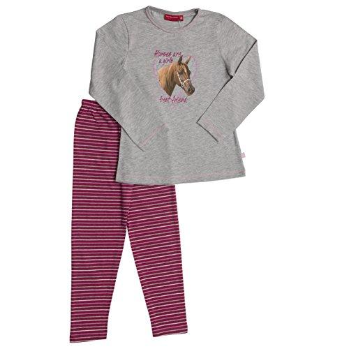 SALT AND PEPPER Mädchen Zweiteiliger Schlafanzug Pyjama-Paket Pferd, Grey Melange