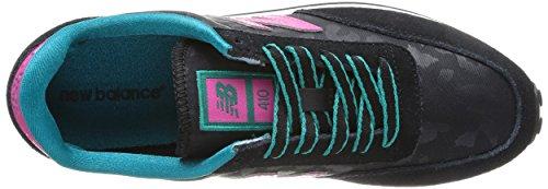 New Balance UL410, Low-Top Sneaker unisex adulto Nero (Schwarz (SKP BLACK/PINK))
