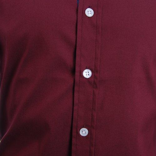 FLATSEVEN -  Camicia Casual  - Maniche lunghe - Uomo Vino