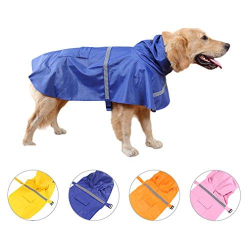Haustier Regenmantel Hund Regenjacke Wasserdicht Kleidung Pet Hoodie Regenmantel pet dog Raincoat mit reflektierende Streifen