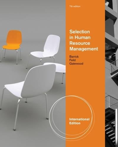 Selection in Human Resource Management, International Edition