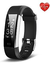 Lemebo Fitness Armband Fitness Tracker mit Pulsmesser - Fitness Uhr Plus Wasserdichte Bluetooth 4.0 smart Aktivitätstracker Schrittzähler, Kalorienzähler Sport Uhr für iOS und Android Smartphone wie iPhone 7/7 Plus/6S/6/6 Plus, Huawei P9