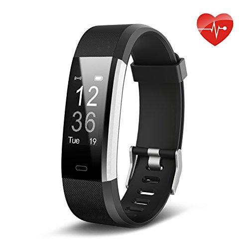 Lemebo Fitness Armband Fitness Tracker mit Pulsmesser - Fitness Uhr Plus Wasserdichte Bluetooth 4.0 smart Aktivitätstracker Schrittzähler, Kalorienzähler Sport Uhr für iOS und Android Smartphone wie iPhone 7/7 Plus/6S/6/6 Plus, Huawei P9(Schwarz) (Mode-band Bleiben)