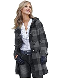 Duffle coat in plaid pattern (125)