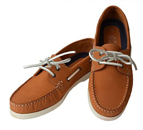 Beverly Originals Chaussures Bateau Cuir Homme Men's Casual Skipper Orange