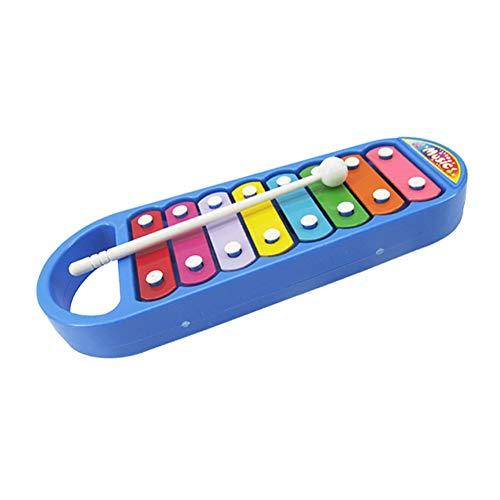 NiceButy Kinderkinder tragbares Instrument 8 Ton Xylophon Musik Spielzeug Weisheit Entwicklung blau