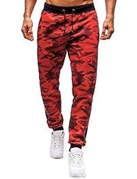 Pantalones para Hombre,Chándal de Hombres Camuflaje Impresión Pantalones Ropa Pantalones de Trabajo de Hombre