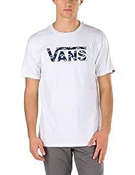 Camiseta Vans Classic Logo Fill Blanco-Dress Azuls Washed Up