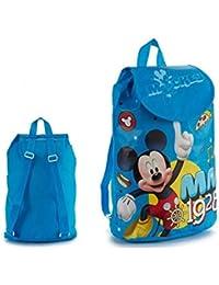 ARTE REGAL Mickey Mouse Bolsa Escolar, 32 cm, Azul